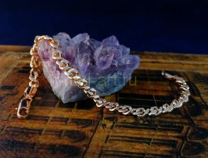 Позолоченная цепочка или браслет, изящное плетение, 5 мм (арт. 250168)