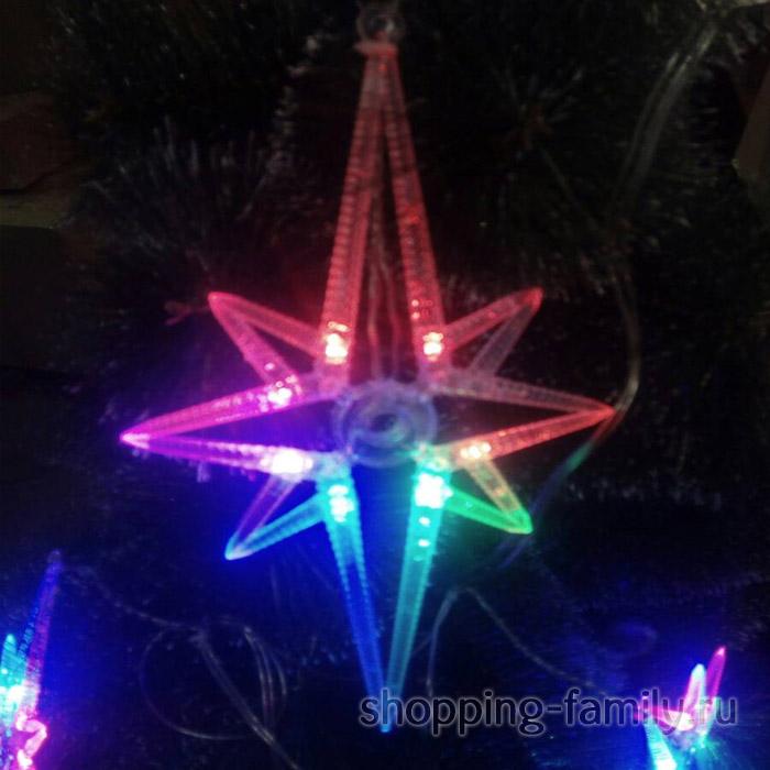 Светодиодная гирлянда с LED подсветкой Звезда
