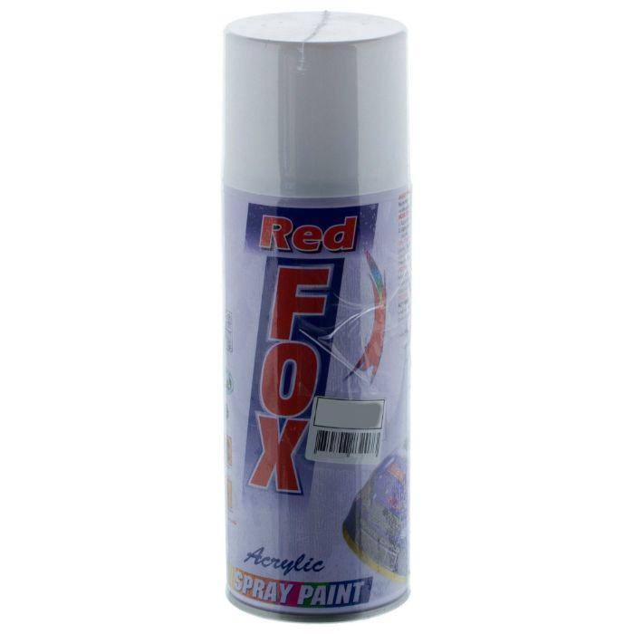 """Red Fox Аэрозольная универсальная краска, название цвета """"Светло-серый"""", глянцевая, объем 520мл."""