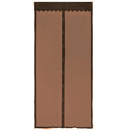 Москитная сетка на магнитах-птичках, цвет - коричневый.
