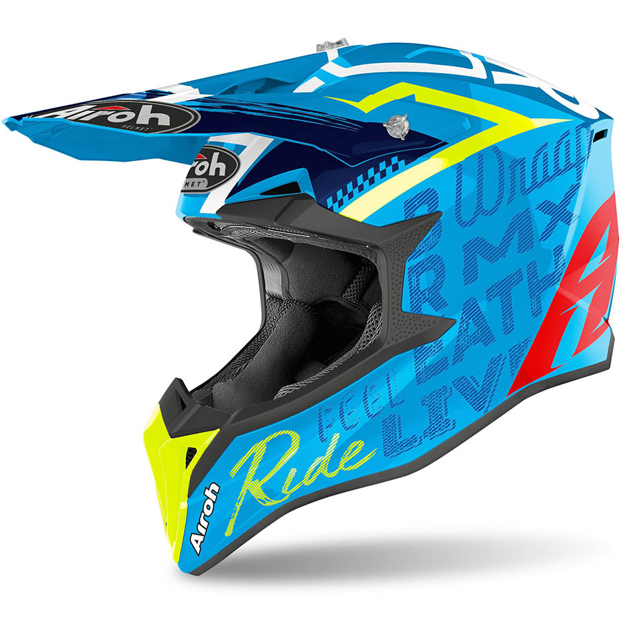 Airoh Wraap Street Azure Gloss шлем, синий