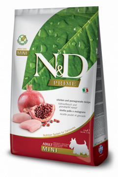 N&D CHICKEN&POMEGRANTE Adult mini б/з (Курица+гранат для взрослых собак мелких пород)