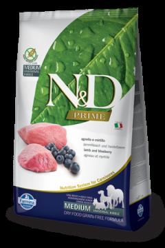 N&D LAMB&BLUEBERRY Adult medium & maxi б/з (ягненок+черника для взрослых собак всех пород)