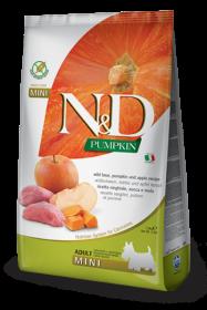 N&D Pumpkin Boar & Apple Adult Mini б/з (Кабан с Яблоком и Тыква для взрослых собак мелких пород)