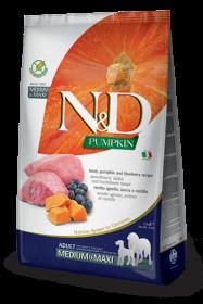 N&D Lamb, Pumpkin & Blueberry Adult medium&maxi (ягненок, тыква и черника для взрослых собак средних и крупных пород)