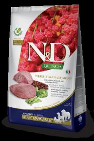 N&D Dog Quinoa Weight Management Lamb Adult (ягненок+киноа, брокколи и спаржа. Контроль Веса)