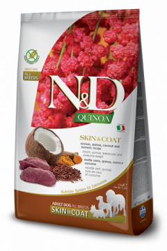 N&D Dog Quinoa Skin&coat Venison (Оленина, киноа, кокос и куркума. Здоровье кожи и шерсти)