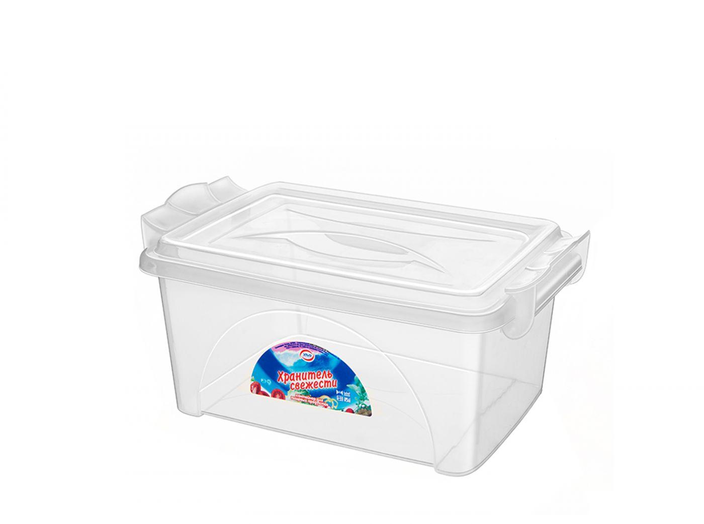 Контейнер для хранения Эльфпласт Хранитель свежести 7,5 литра прозрачный с крышкой 35x23x14,5 см