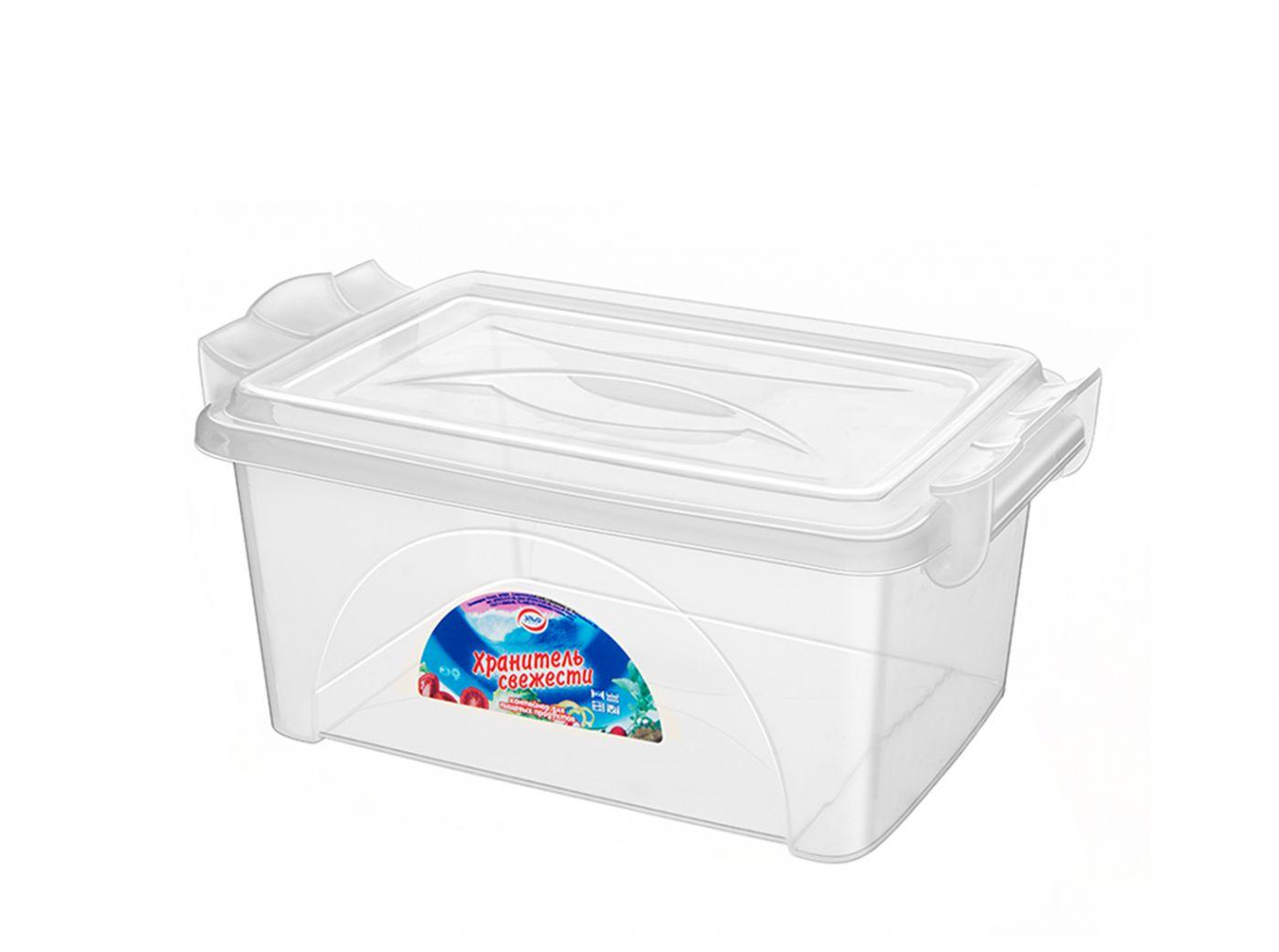 Контейнер для хранения Эльфпласт Хранитель свежести 11,5 литров прозрачный с крышкой 40x26,5x15,5 см