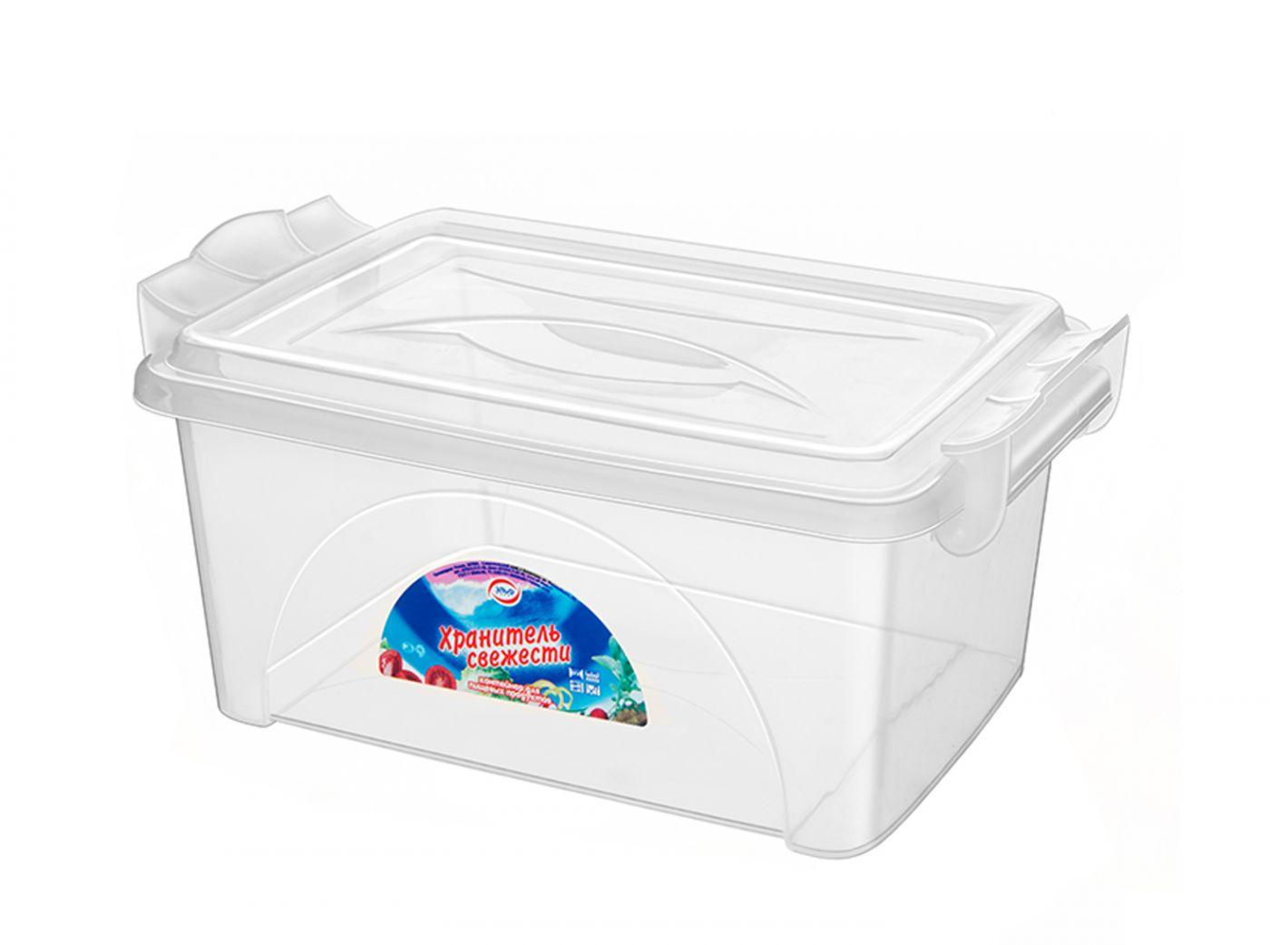 Контейнер для хранения Эльфпласт Хранитель свежести 22 литра прозрачный с крышкой 44x31,5x21,5 см
