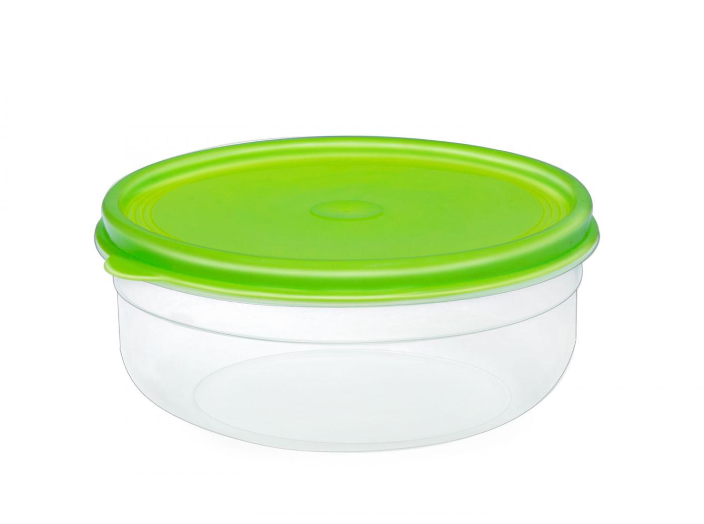 Бутербродница круглая 3 литра Эльфпласт контейнер для хранения еды с крышкой  23,5 см