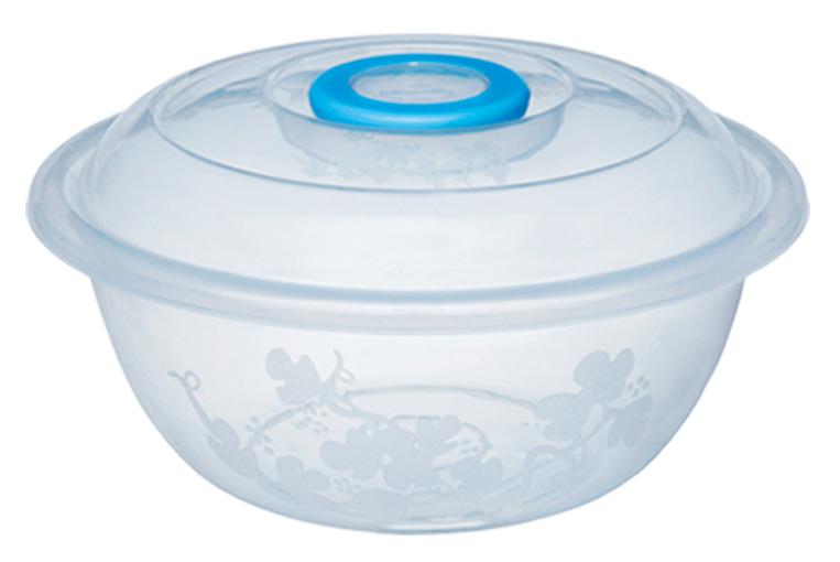 Таз мерный Изобилие 15 литров / контейнер для хранения 43,5 см прозрачный с крышкой Эльфпласт