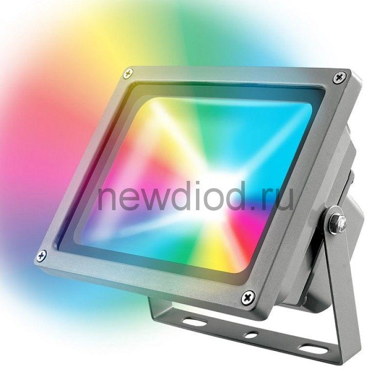 Прожектор светодиодный ULF-S01-10W/RGB/RC IP65 110-240В картон UNIEL
