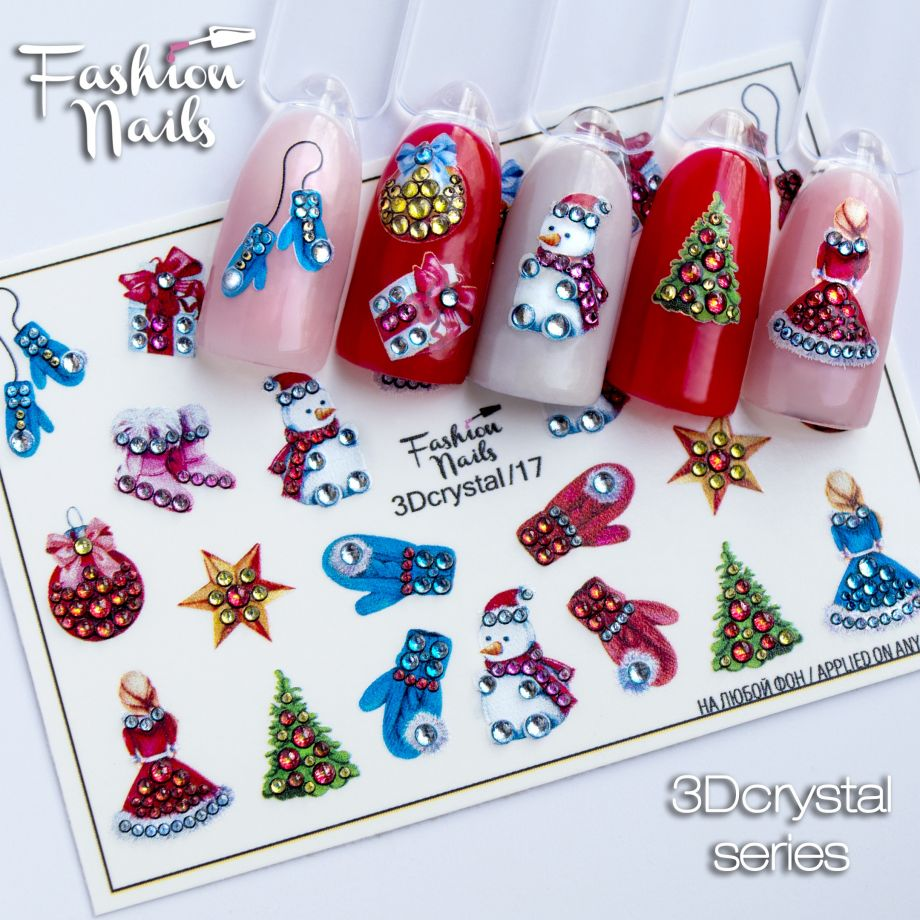 3D слайдер дизайн Fashion Nails Crystal 17