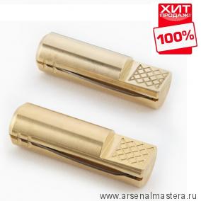 Упоры верстачные 2 шт круглые латунные 60 мм Veritas Bench Pup 05G04.04 М00003503 ХИТ!