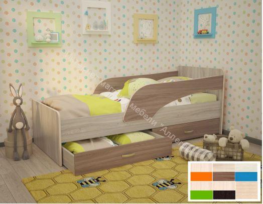"""Кровать """"Антошка"""" с двумя бортиками"""
