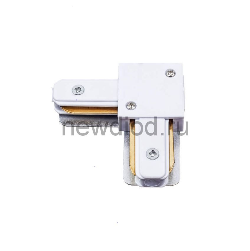 Соединитель для шинопроводов UBX-Q122 G21 WHITE 1 POLYBAG  типа G L-образный 1-фаз Бел ТМ Volpe