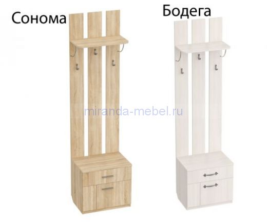 Элана Вешалка с тумбой