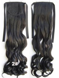 Искусственные термостойкие волосы - хвост волнистые №002 (55 см) -  80 гр.