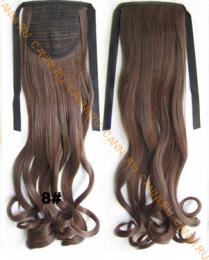 Искусственные термостойкие волосы - хвост волнистые №008 (55 см) -  80 гр.