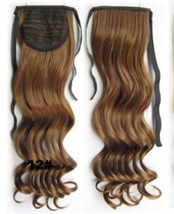 Искусственные термостойкие волосы - хвост волнистые №012 (55 см) -  80 гр.