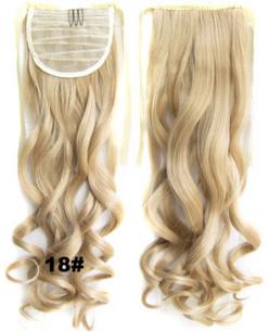 Искусственные термостойкие волосы - хвост волнистые №018 (55 см) -  80 гр.