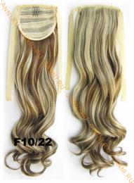 Искусственные термостойкие волосы - хвост волнистые №F10/22 (55 см) -  80 гр.
