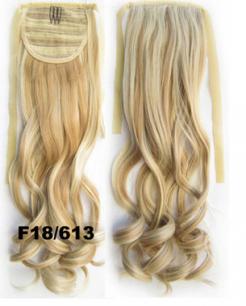 Искусственные термостойкие волосы - хвост волнистые №F18/613 (55 см) -  80 гр.