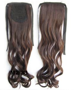 Искусственные термостойкие волосы - хвост волнистые №M2/33 (55 см) -  80 гр.