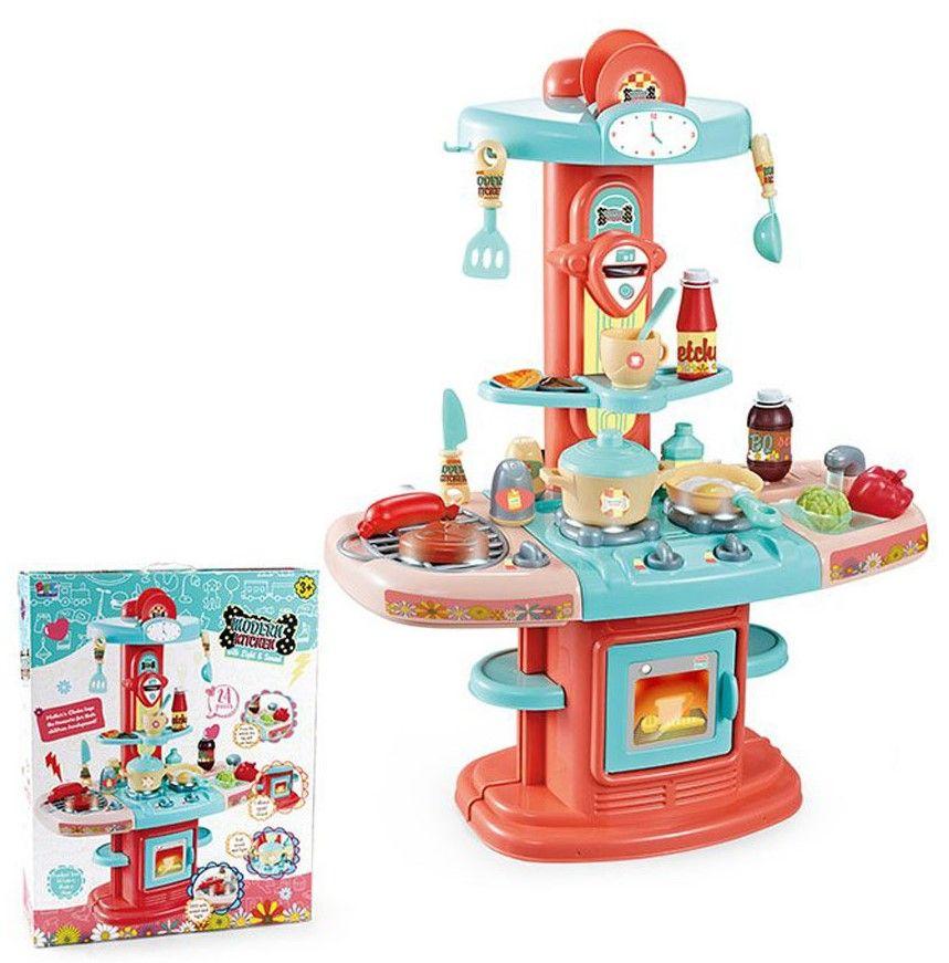 16823 Детская кухня игровая с водой, звуком и светом Modern Kitchen