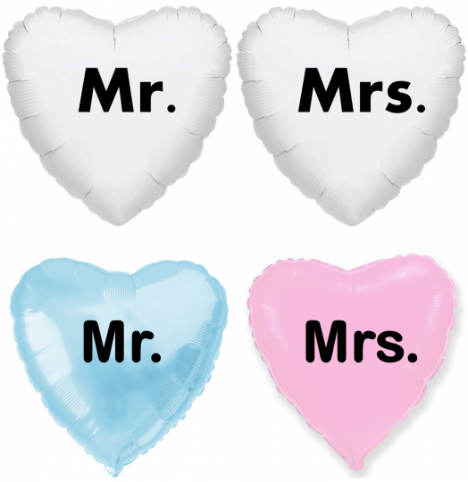 Пара сердец Мистер и Миссис