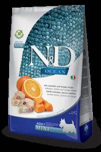 N&D Ocean Codfish Pumpkin & Orange mini adult (треска c тыквой и апельсином б/з корм для собак мелких пород)