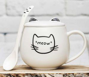 Кружка Чёрное ушко Meow 1
