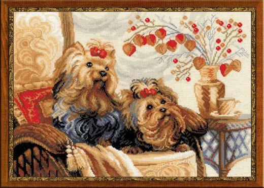 Набор для вышивания крестом Домашние любимцы №1248 фирма Риолис