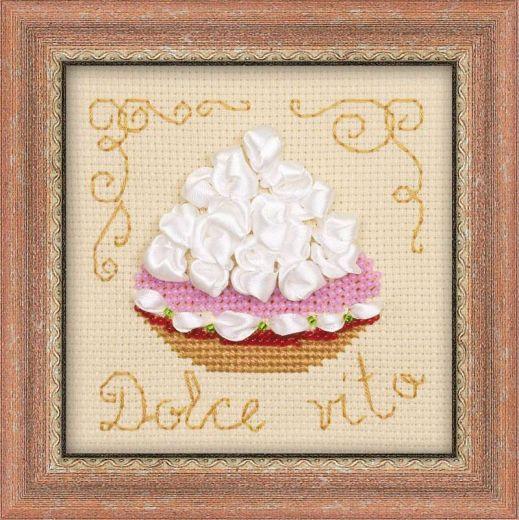 Набор для вышивания мулине, бисер, ленты Корзиночка №1256 фирма Риолис