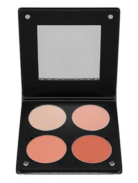 Make-Up Atelier Paris Palette Blush Powder 3D BL3DS Румяна в палитре на 4 цвета лососевая гамма с зеркалом