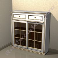 """Книжный шкаф """"Лондон СИТИ-2 """"  белый с патиной"""