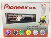 1778 Магнитола PioneeirOK +USB+AUX+Радио
