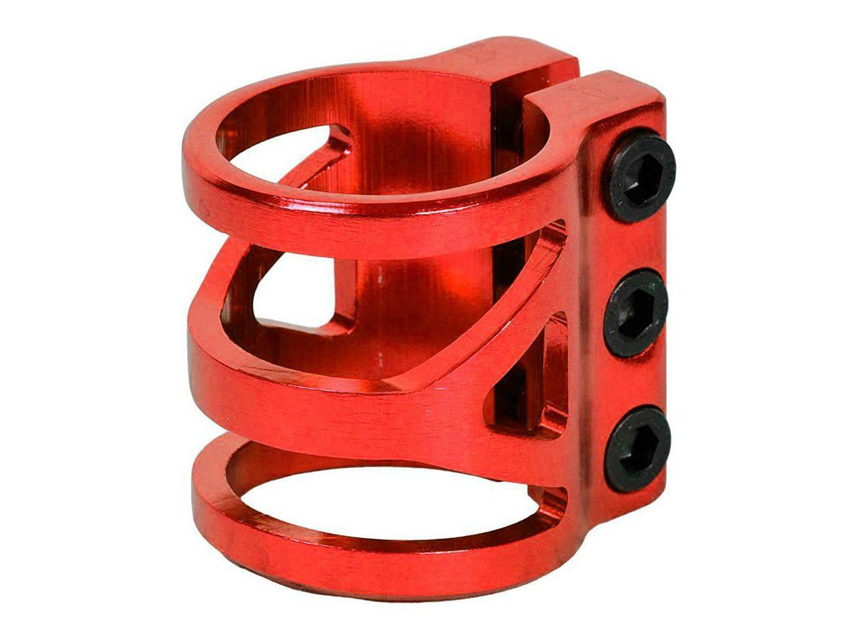 Хомут на 3 болта, диаметр 35 мм красный