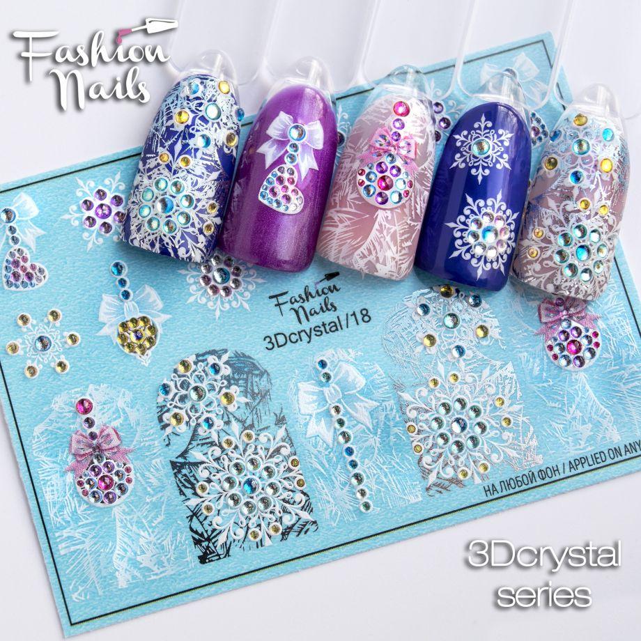 3D слайдер дизайн Fashion Nails Crystal 18