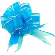 "Бант-шар ""Классика"", текстиль, синий, 5 см/ d 17,5 см"