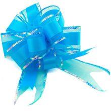"Бант-шар ""Классика"", текстиль, синий, 5 см/ d 17,5 см, 10 шт"