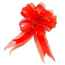 """Бант-шар """"Классика"""", текстиль, красный, 5 см/ d 17,5 см, 10 шт"""