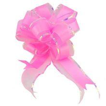 """Бант-шар """"Классика"""", текстиль, розовый, 5 см/ d 17,5 см, 10 шт"""