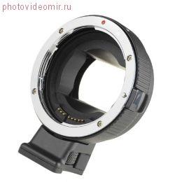 Адаптер Commlite CM-EF-E HS с оптики Canon EF-S на байонет Sony E-mount с автофокусом