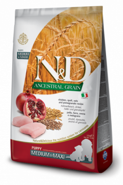 N&D Low Grain CHICKEN & POMEGRANTE Puppy medium&maxi (курица+гранат для щенков средних и крупных пород)