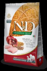 N&D Low Grain CHICKEN&POMEGRANTE Adult medium&maxi (курица+гранат для взрослых собак средних и крупных пород)