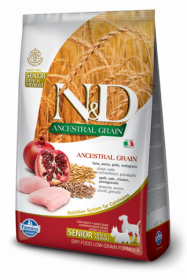 N&D Low Grain CHICKEN & POMEGRANTE Senior Mini (курица+гранат для пожилых собак средних и мелких пород)