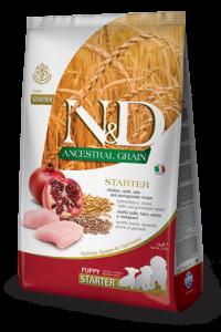N&D Low Grain CHICKEN & POMEGRANTE Puppy Starter (курица+гранат для щенков с момента отъема от матери)