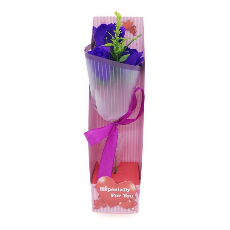 Букет мыльных роз (цвет фиолетовый)